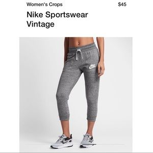 Nike Heather Grey Sportswear Vintage Joggers